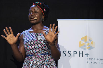 Serra Asangbeh wins SSPH+ ScienceFlashTalk Award at the 2019 Swiss Public Health Conference